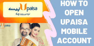 how to open upaisa account