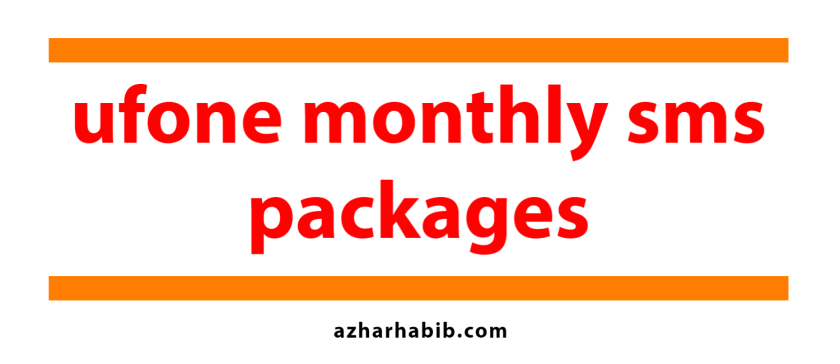ufone monthly sms packages