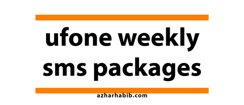 ufone weekly sms packages