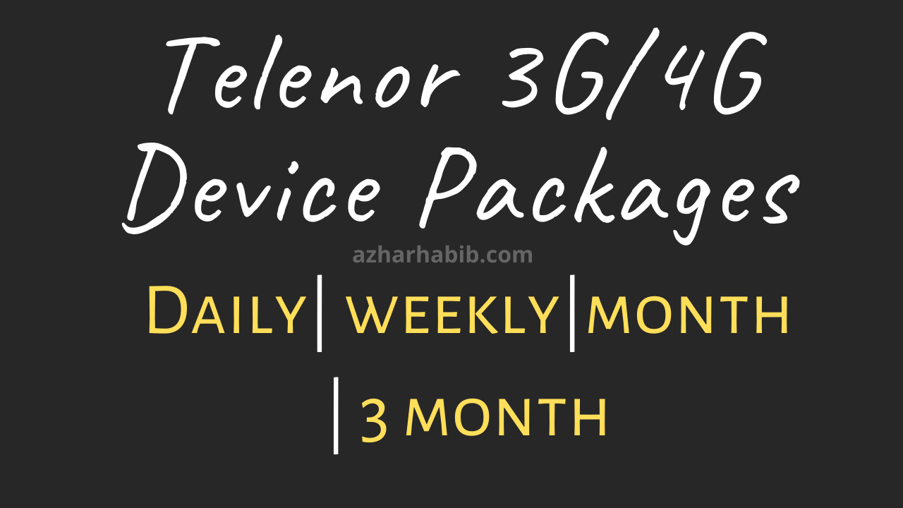 Telenor 4G Device Packages 2021