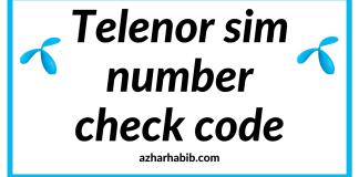 Telenor sim number check code