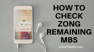 How to Check Zong Remaining MBs