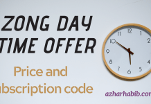Zong day time offer 2020 latest | Zong one day offer code