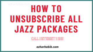 How To Unsubscribe All Jazz Packages
