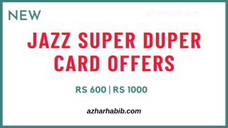 Jazz Super Duper Card offers
