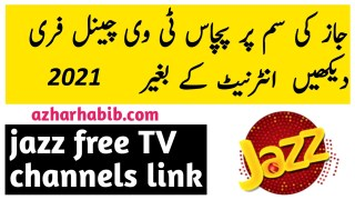 jazz free tv channels links 2021
