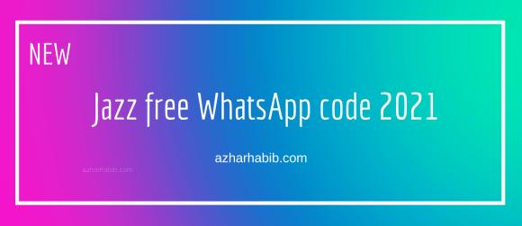 jazz free whatsapp code