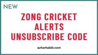 zong cricket alerts unsubscribe code