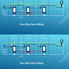 Wiring Diagram For 4 Way Switch Help With Ge Jasco Light Switches Connected Network Rj45 Four Install Diy Smart Some Guy
