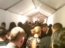 The incredible line to the after party!