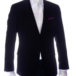 aziari italian clothing mens suits miami fl black solid blazer front
