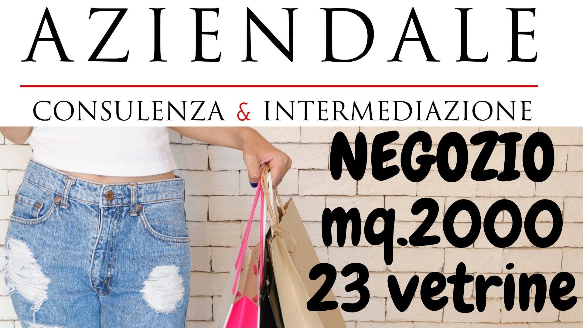 NEGOZIO MQ.2000 FRAZIONABILE STRADA ALTO PASSAGGIO VEICOLARE