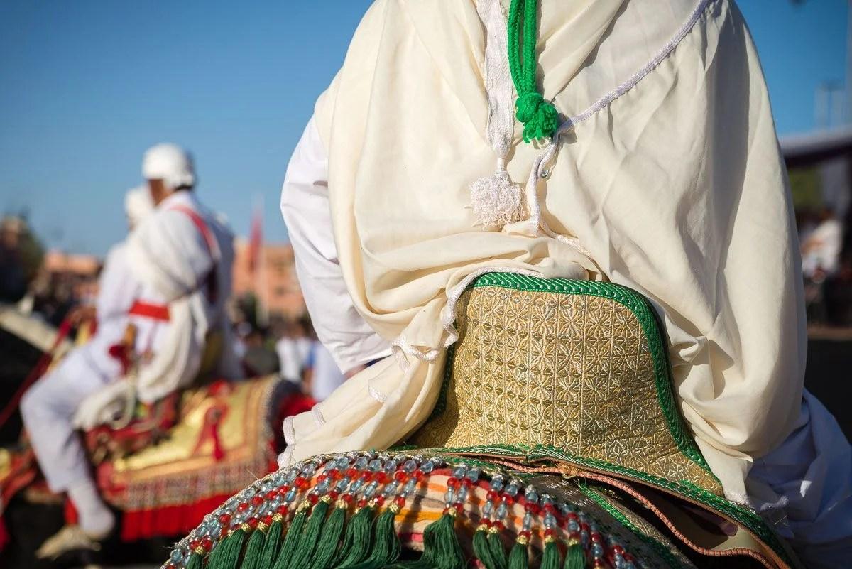 Moroccan costumes of festival
