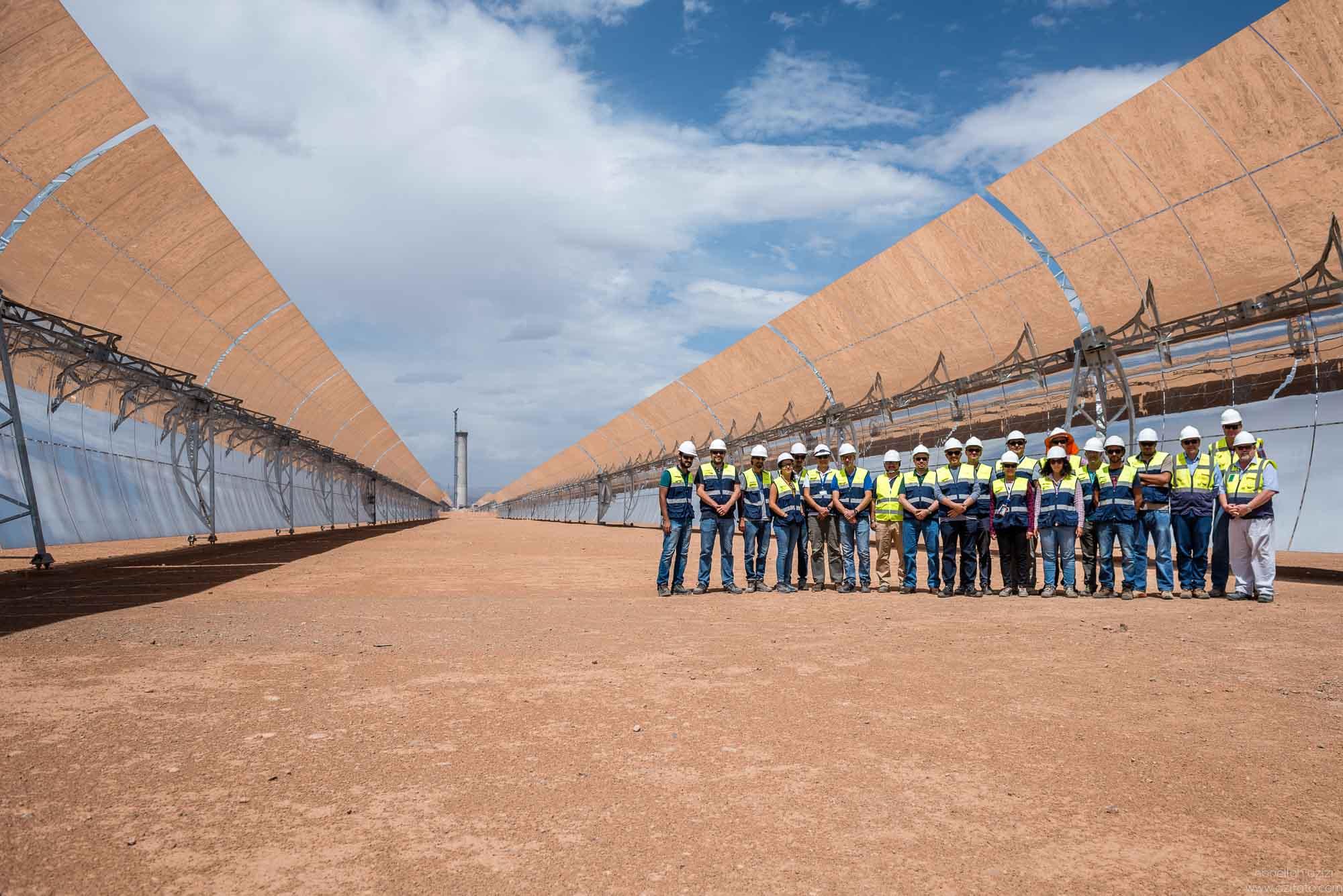 Mohammad Abunayyan Chairman of ACWA Power vistitng Ouarzazate Solar Power Station