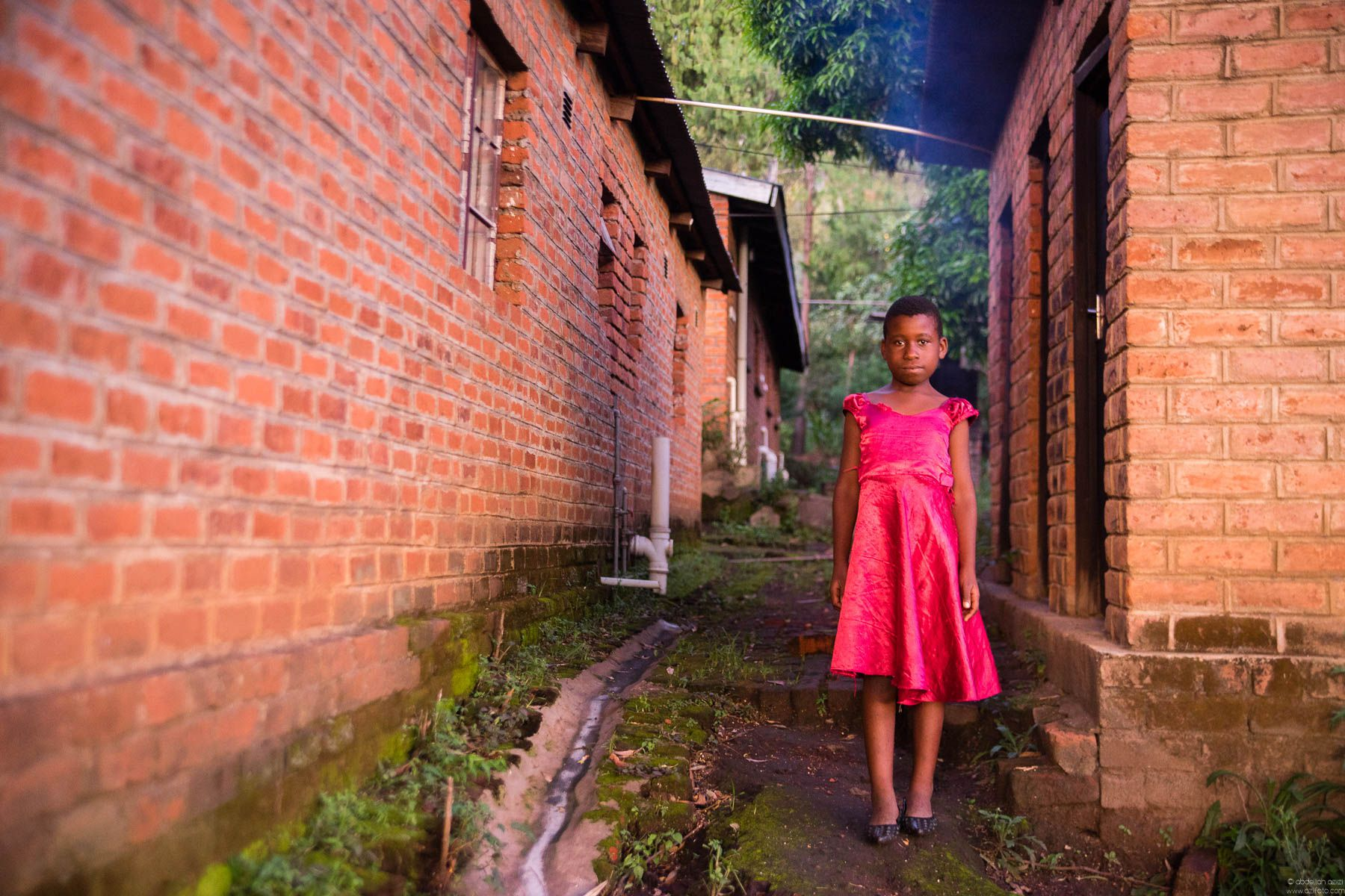 Girl in pink dress -Malawi