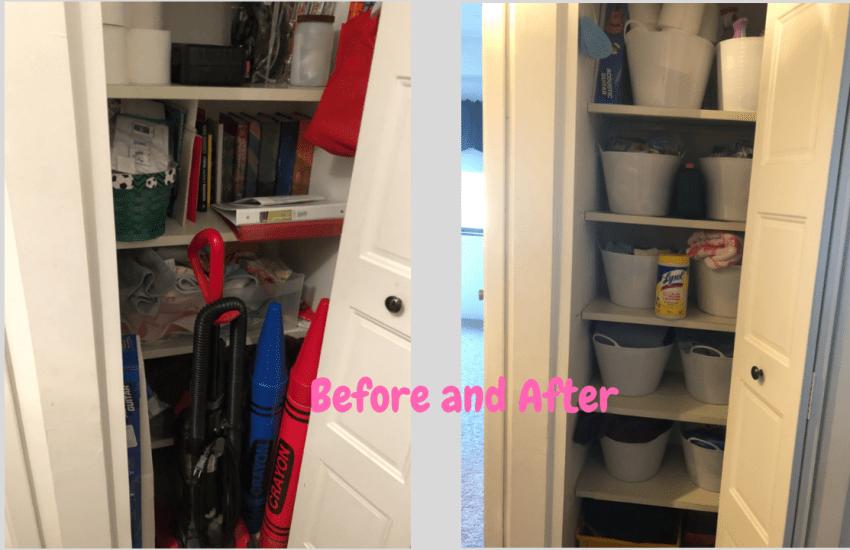 linen closet organize