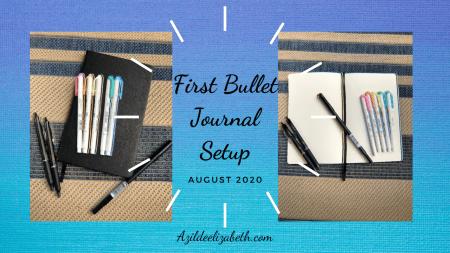 first bullet journal setup august 2020