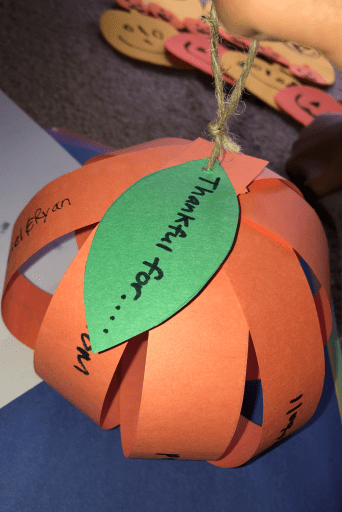 thankful pumpkin craft