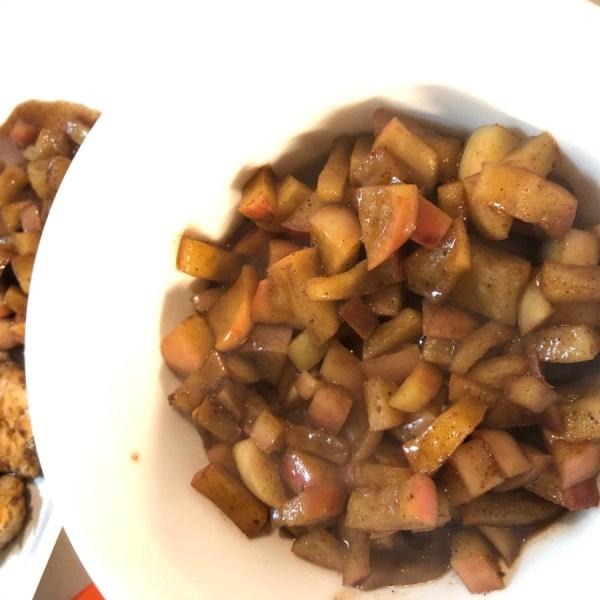 Apple Cinnamon Sauce Served Over Chicken & Dessert!