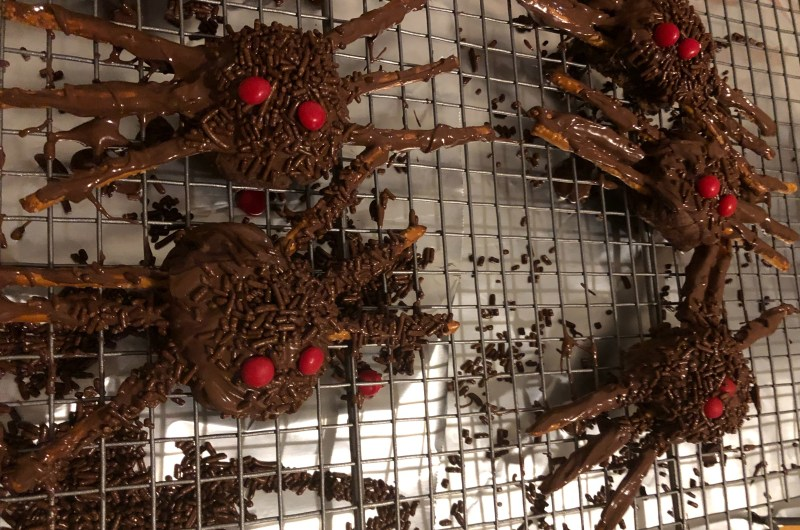 Easy Halloween Spider Cookies (Tarantula Cookies)