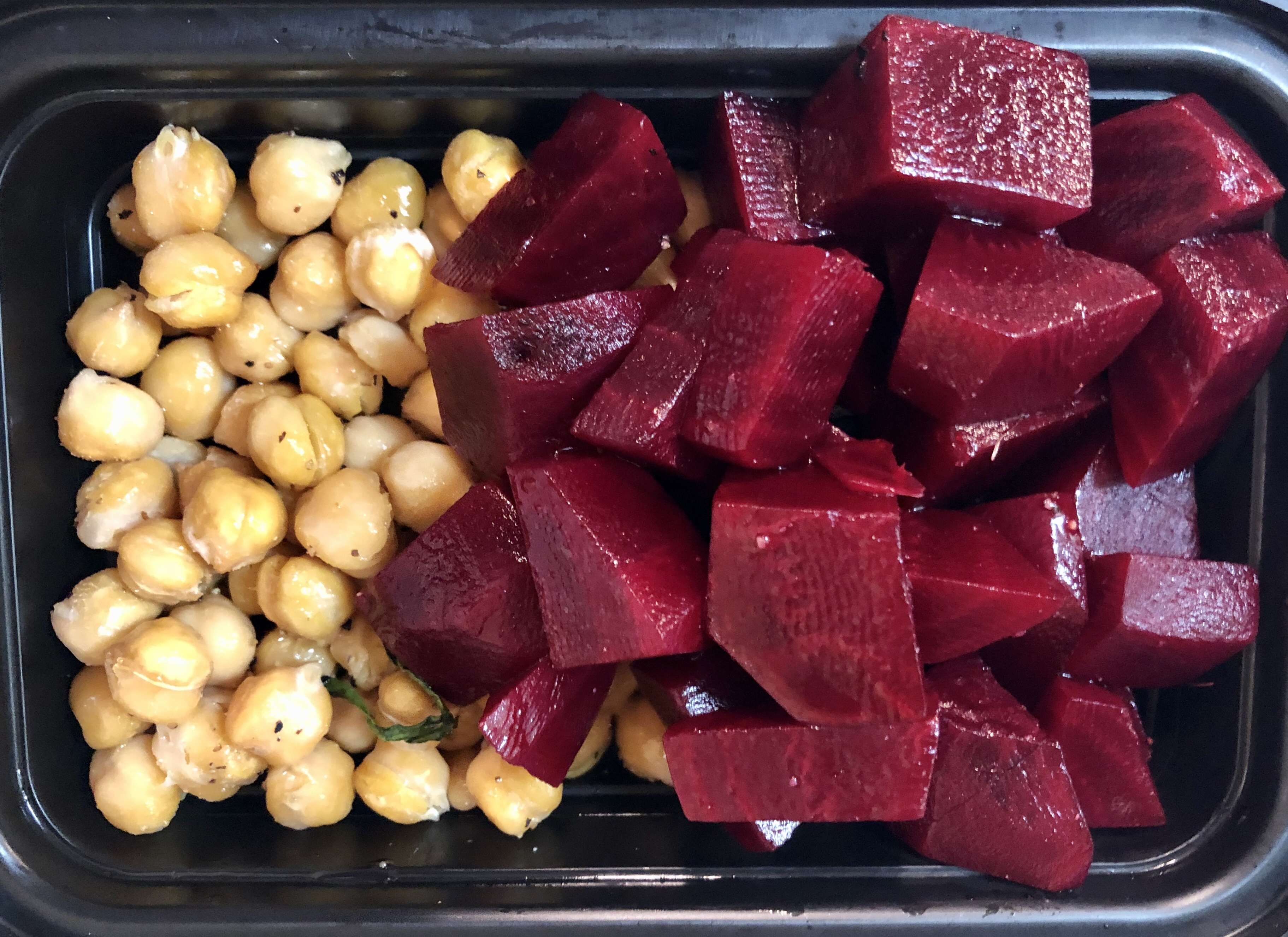 chick peas and beets