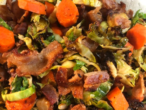 brussels sprouts bacon carrots sides