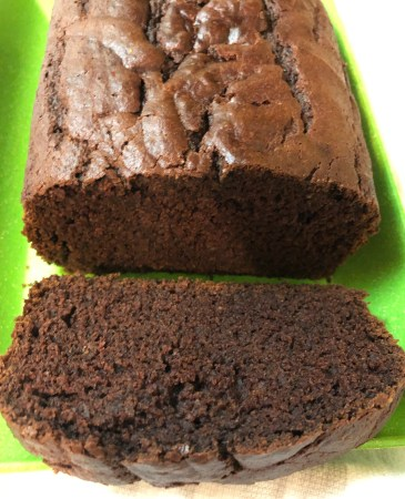served chocolate bread