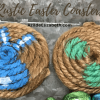 DIY Rustic Easter Coasters (Easy and Fun!)