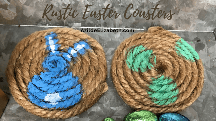DIY Rustic Easter Coasters (Easy and Fun!)