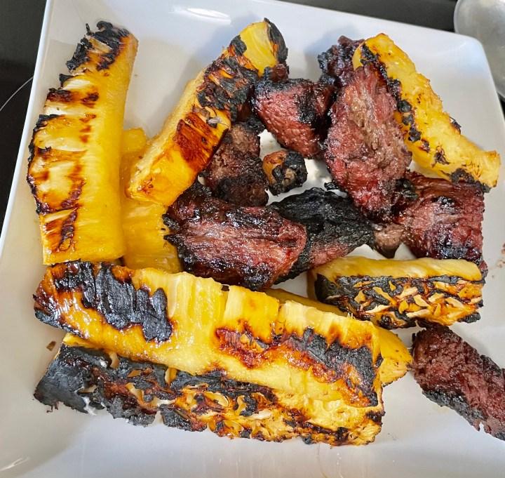 pineapple and steak
