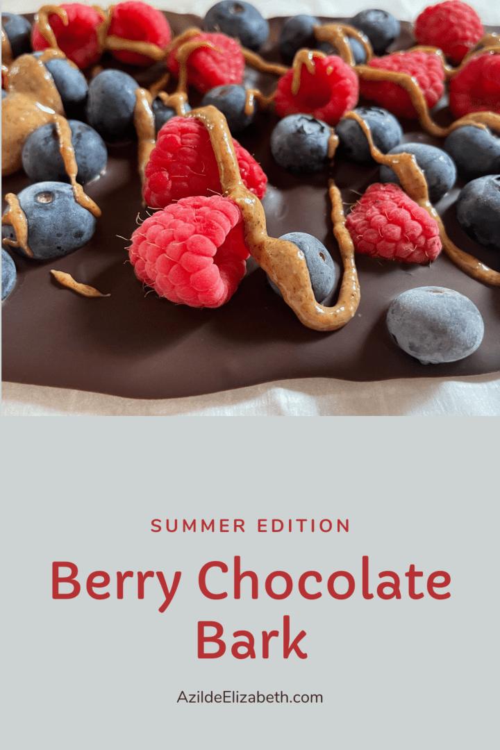 Berry Chocolate Bark (Summer Edition)