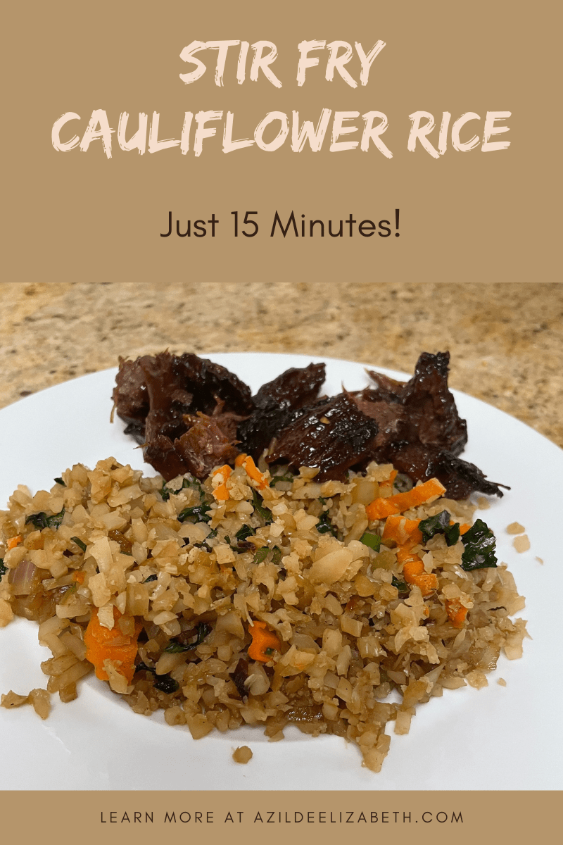 Stir Fry Cauliflower Rice (Meatless Monday)