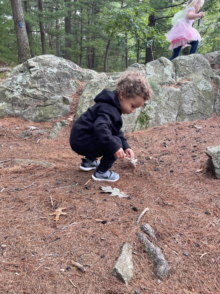 outdoor fall with Carter