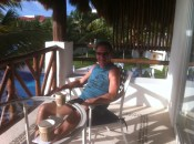 Michael FINALLY relaxing on our veranda