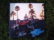 Eagles Hotel California Lp Record Album Signed