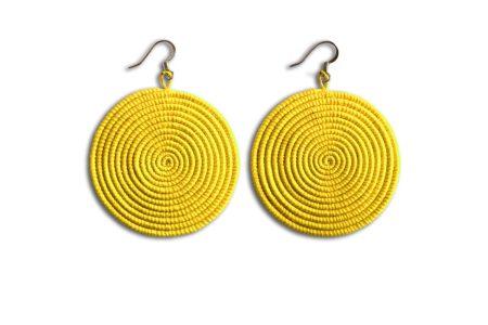 Large Disc Earrings- Y