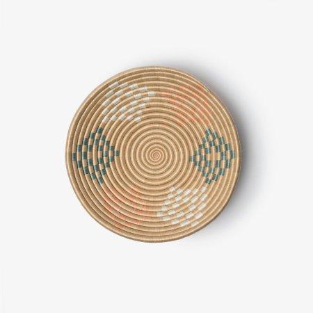 Bariku Bowl Medium Orange Teal - Overhead (1)