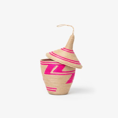 Sisal Peace Basket Pink