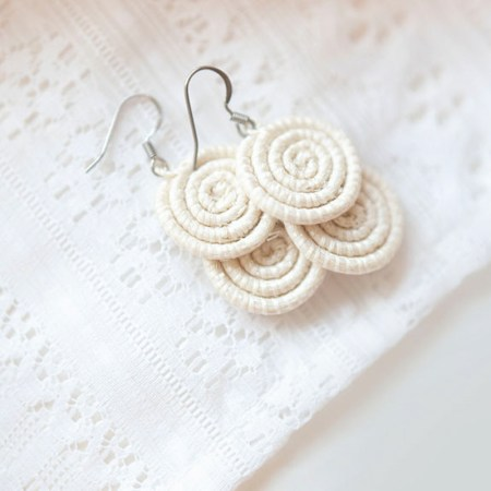 Kimwe natural white earring