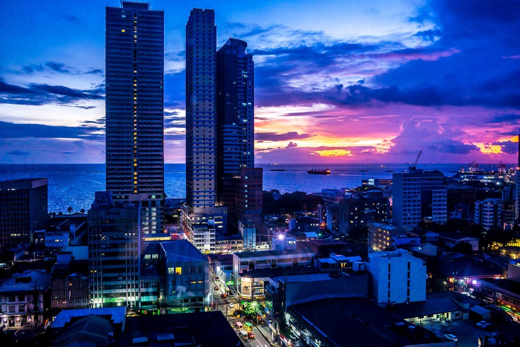 Manila po zmroku, Filipiny