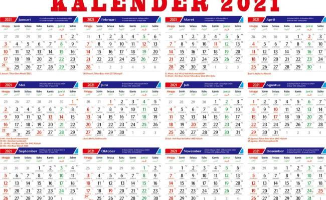 Kalender Indonesia Tahun 2021 Lengkap Dengan Hari Libur Cute766