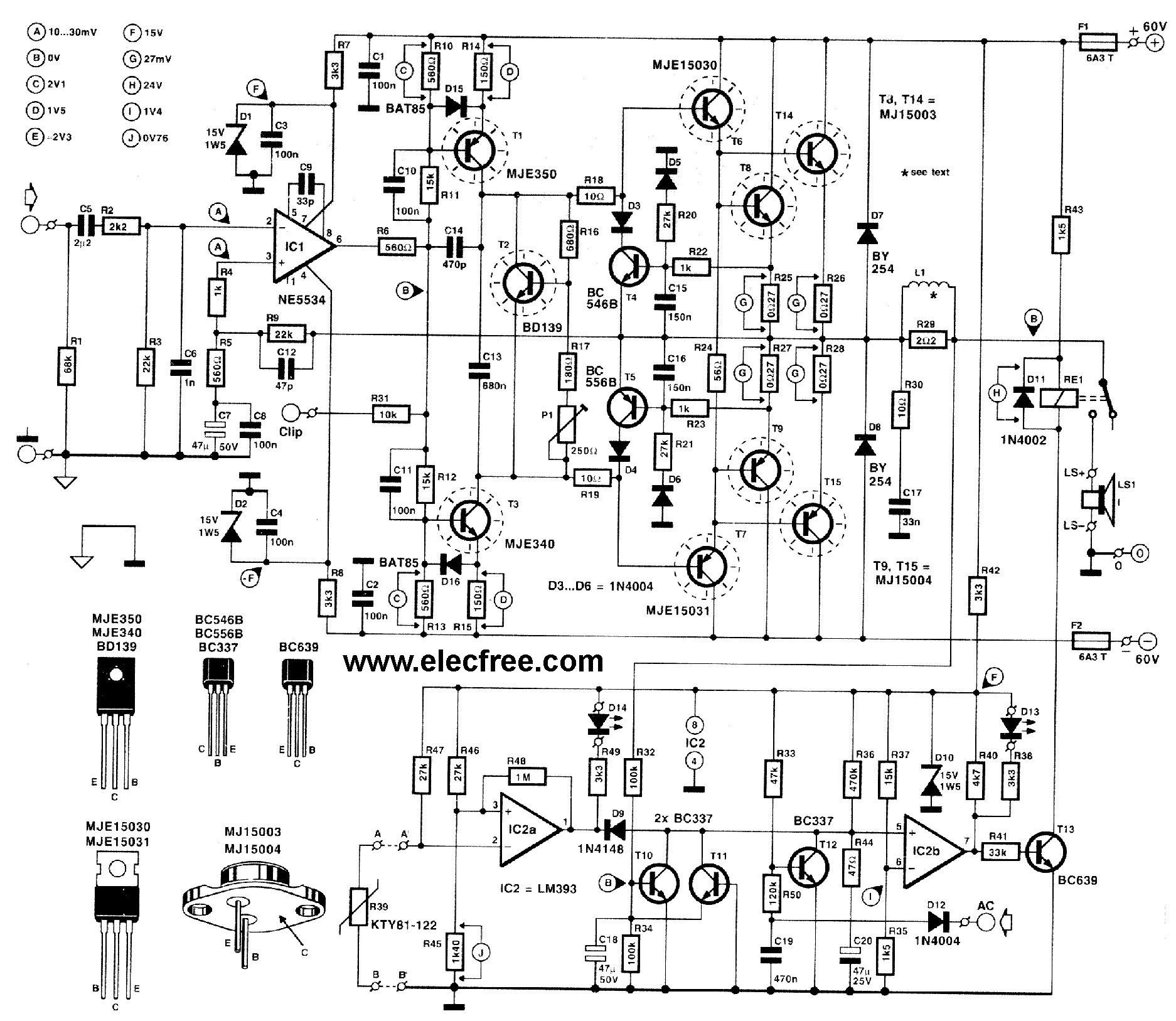 PoworAmp 300Watt menggunakan Transistor MJ15003 dan