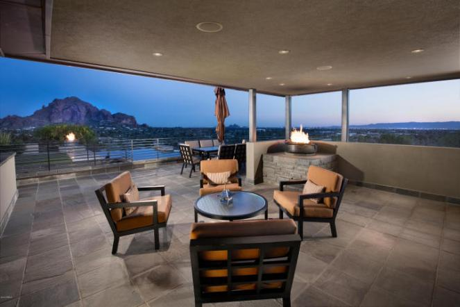 Contemporary house of steel & wood on rare hillside flat Paradise Valley grounds asking a whopping $7.5M 7