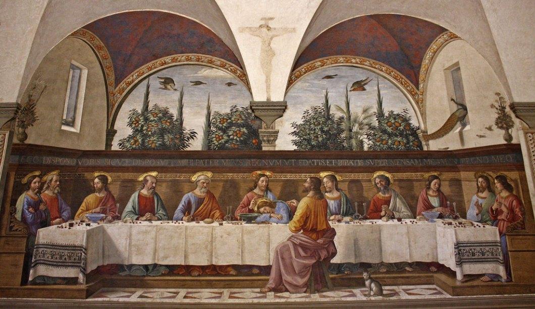 Тайната вечеря от Доменико Гирландайо 15 век, ренесанс
