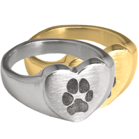 Rings : Pet Print Jewelry: Bold Heart Ring with actual ...