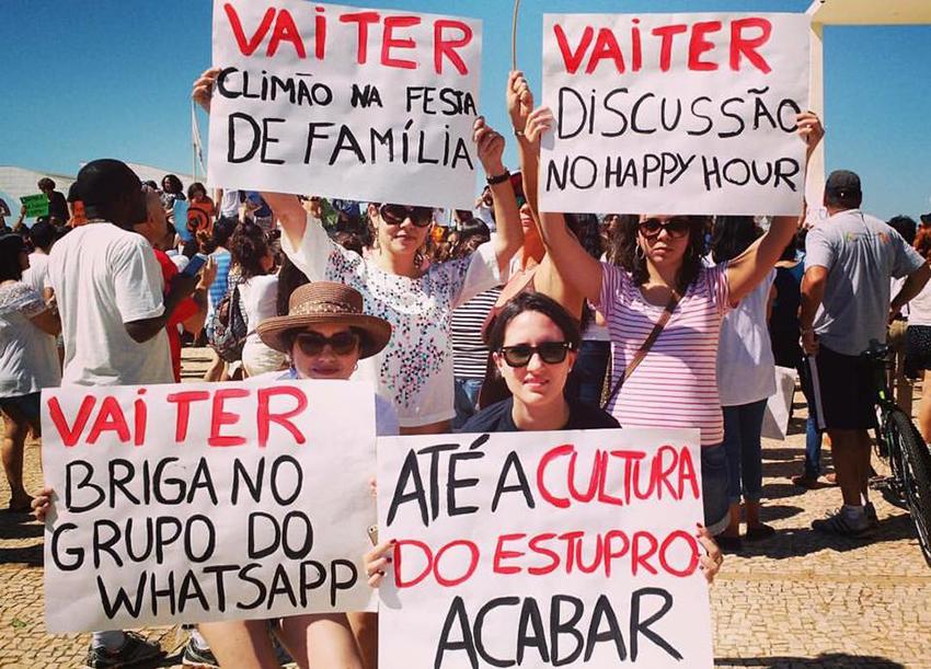 Manifestantes na Marcha das Flores, no dia 29 de maio. Arquivo pessoal.