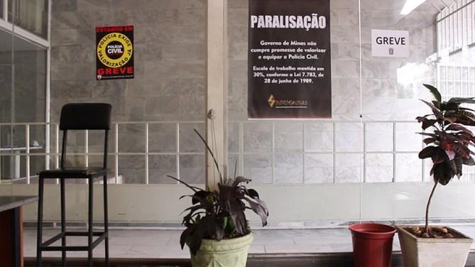 Polícia Civil de Minas Gerais estava em greve por melhores condições de trabalho e melhorias salariais, em junho. Na Delegacia da Mulher, vítimas de violência chegavam a esperar 10 horas para prestar queixa.