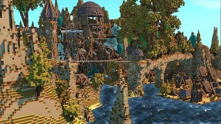 minecraft fantasy map port town save mod castle build mega cool maps 9minecraft amazing structure structures designs azminecraft info buildings