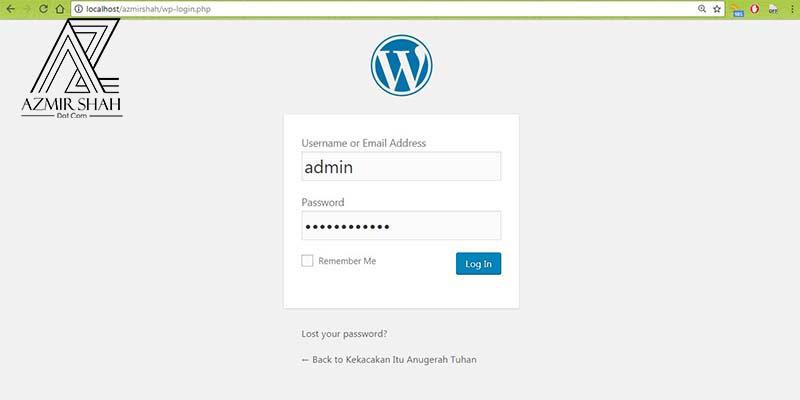 login wordpress, daftar masuk wordpress