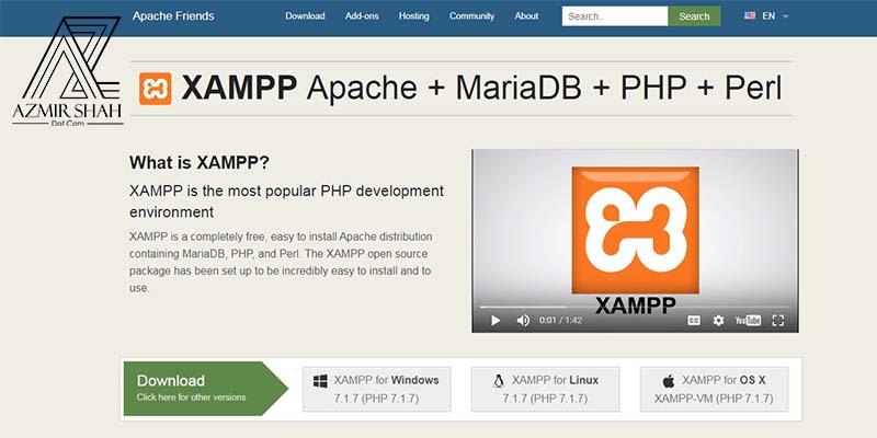 laman web xampp, xampp, laman web rasmi xampp, xampp localhost